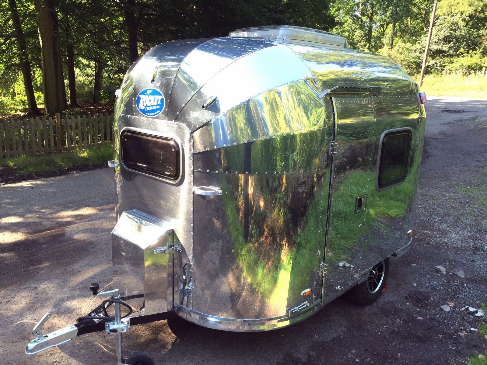 Mini Vintage Airstream Style Rocket Bebe 2 Berth Caravan Ultra