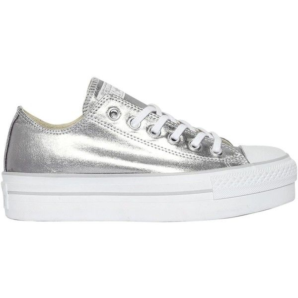 Converse All Star Silver Metallic Rubber Trainers