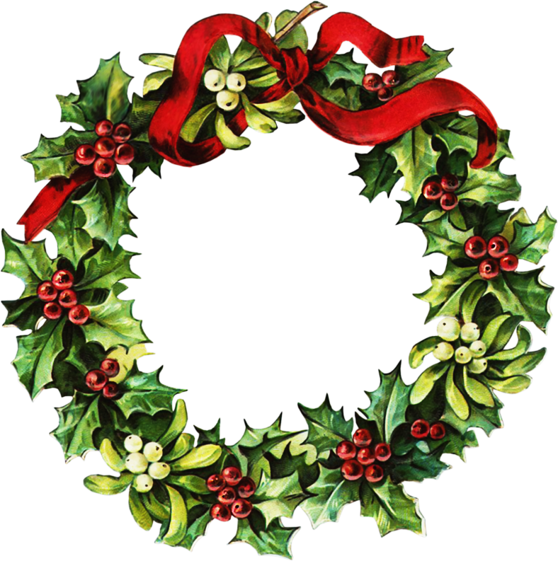 10+ Christmas holly garland clipart information