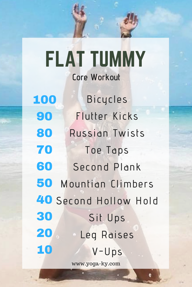Flat Tummy Summer Core Workout @Yoga_ky #abs #fitness