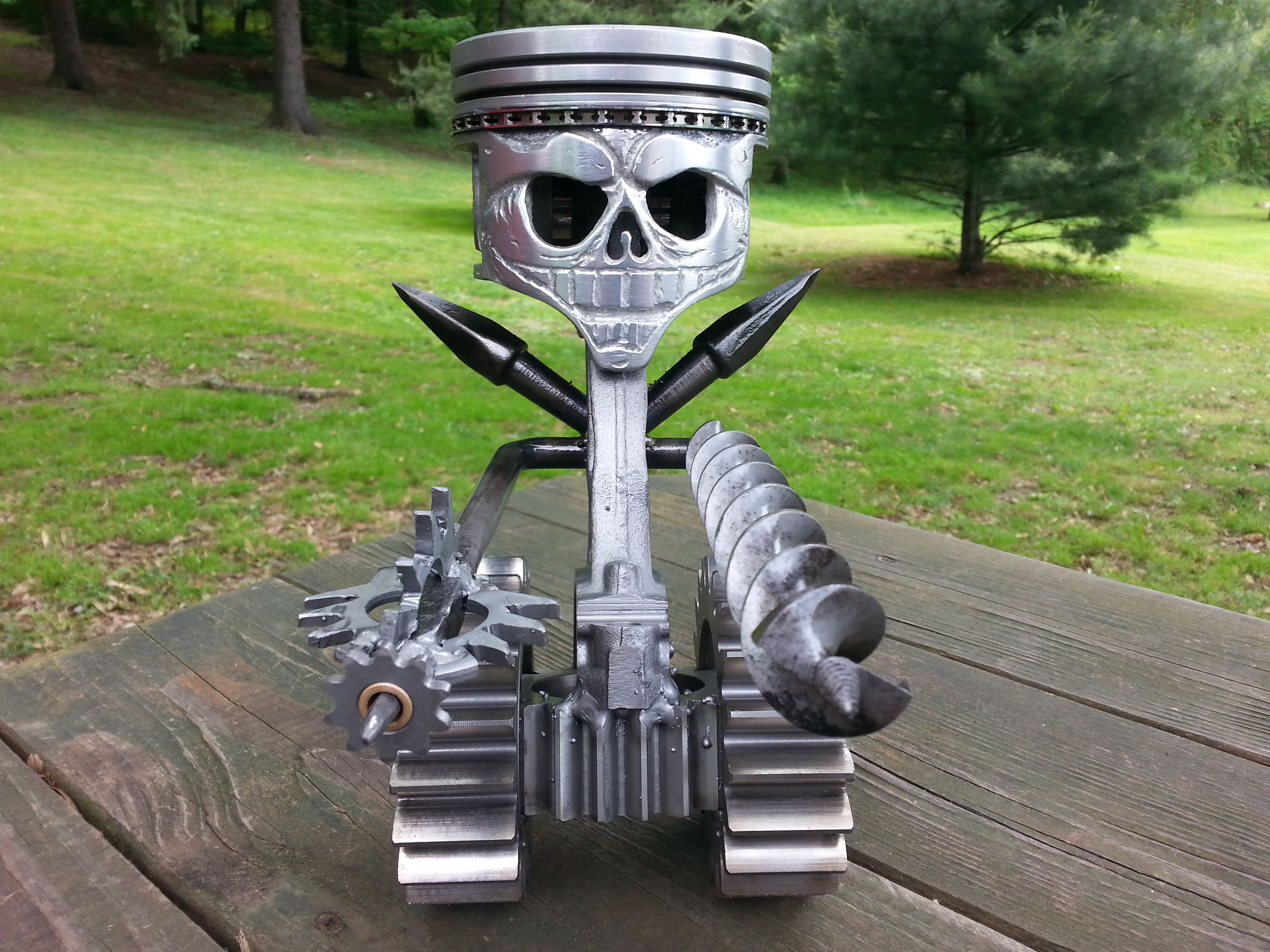 Piston / scrap metal art. | Metal working | Pinterest ...