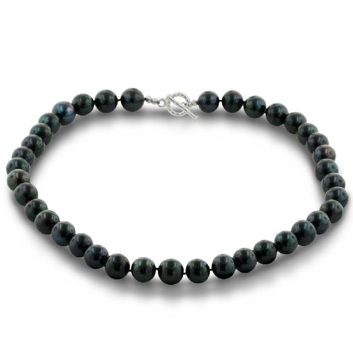 Special Offers Available Click Image Above: 11-13mm Black Round Pearl Necklace, 17 Inches