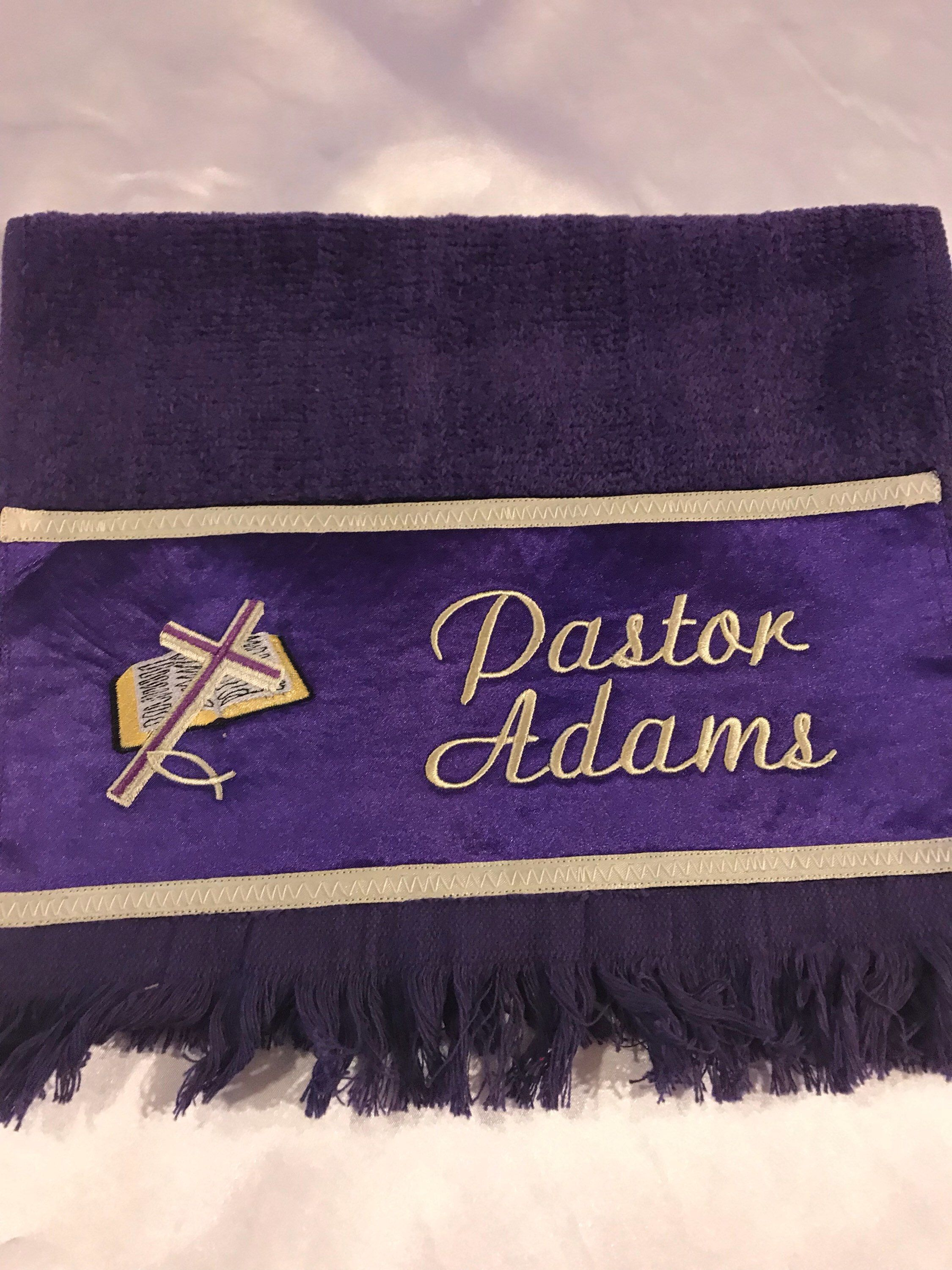 b47c5d632469 Custom Personalized Fingertip Towels Men Women Cross First Lady Church  Embroidered Pastor Towels Praying Hands Minister