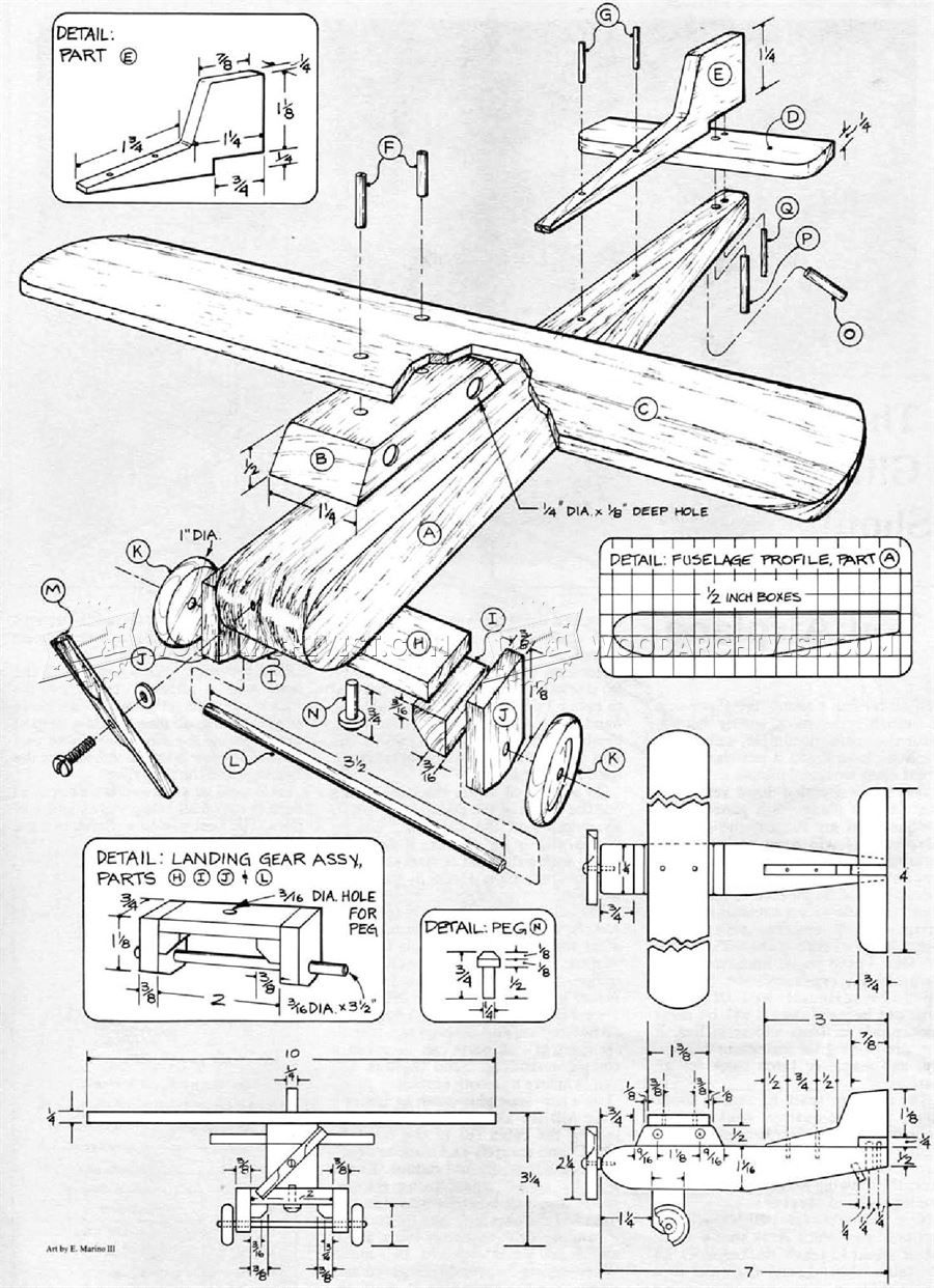 Wooden airplane plans wooden toy plans