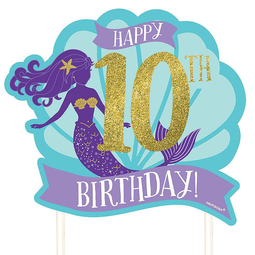 Customizable wishful mermaid cake topper 10 14in