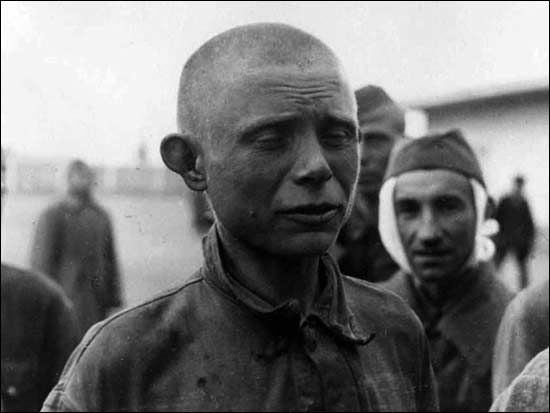 Captured soldiers of the Red Army. 1941