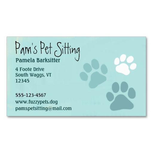 Pet Paw Prints Animal Lover Dog Tracks Light Teal Business Card Zazzle Com Pet Paw Print Pet Paws Dog Sitting Business