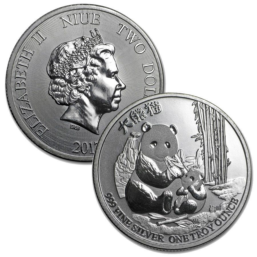Niue 1 Oz Silver 2 Panda Coin These 1 Oz 999 Pure Silver Coins Are Available For Only 2 99 Over Spot Each Limited Quan In 2020 Coins Silver Bullion Silver Coins