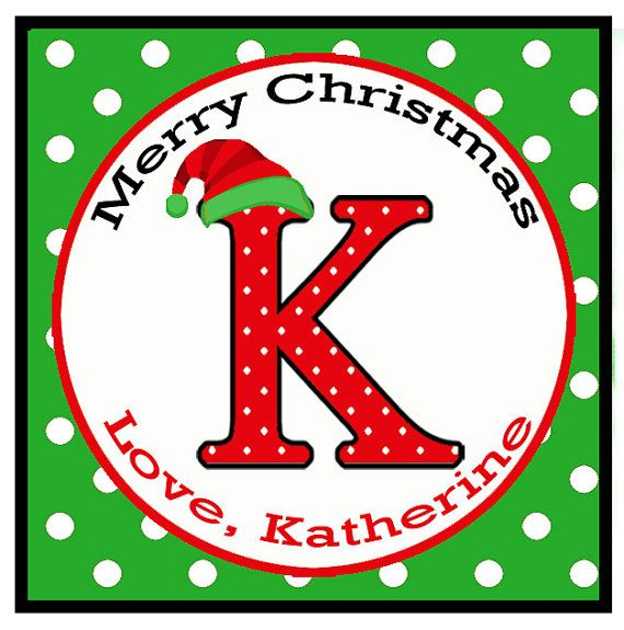 personalized christmas monogram gift tags by thatpartychick - Christmas Monograms