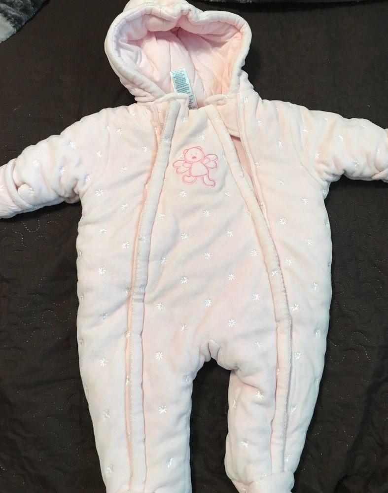 70f76f33a9a4 ABSORBA SZ 9 MONTHS PINK TEDDYBEAR ANGEL SNOW SUIT EUC  fashion ...