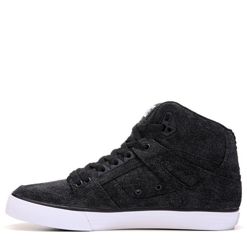 Black · DC Shoes Men's Spartan High Top Skate Shoes (Black/Acid Wash) ...