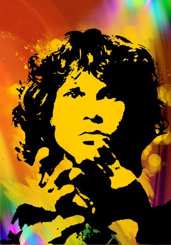 Jim Morrison Illustration Jim Morrison The Doors Jim Morrison Rock Posters