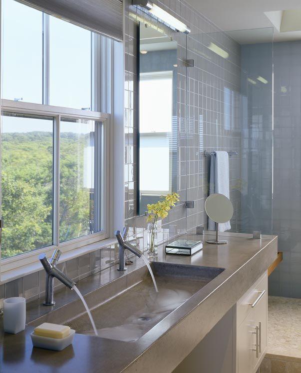 Big Bathroom Sink Double Size Cast Concrete Master