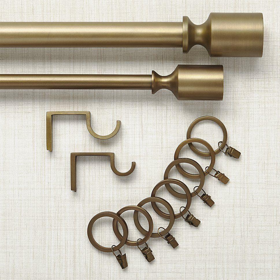 curtain rods brass curtain rod