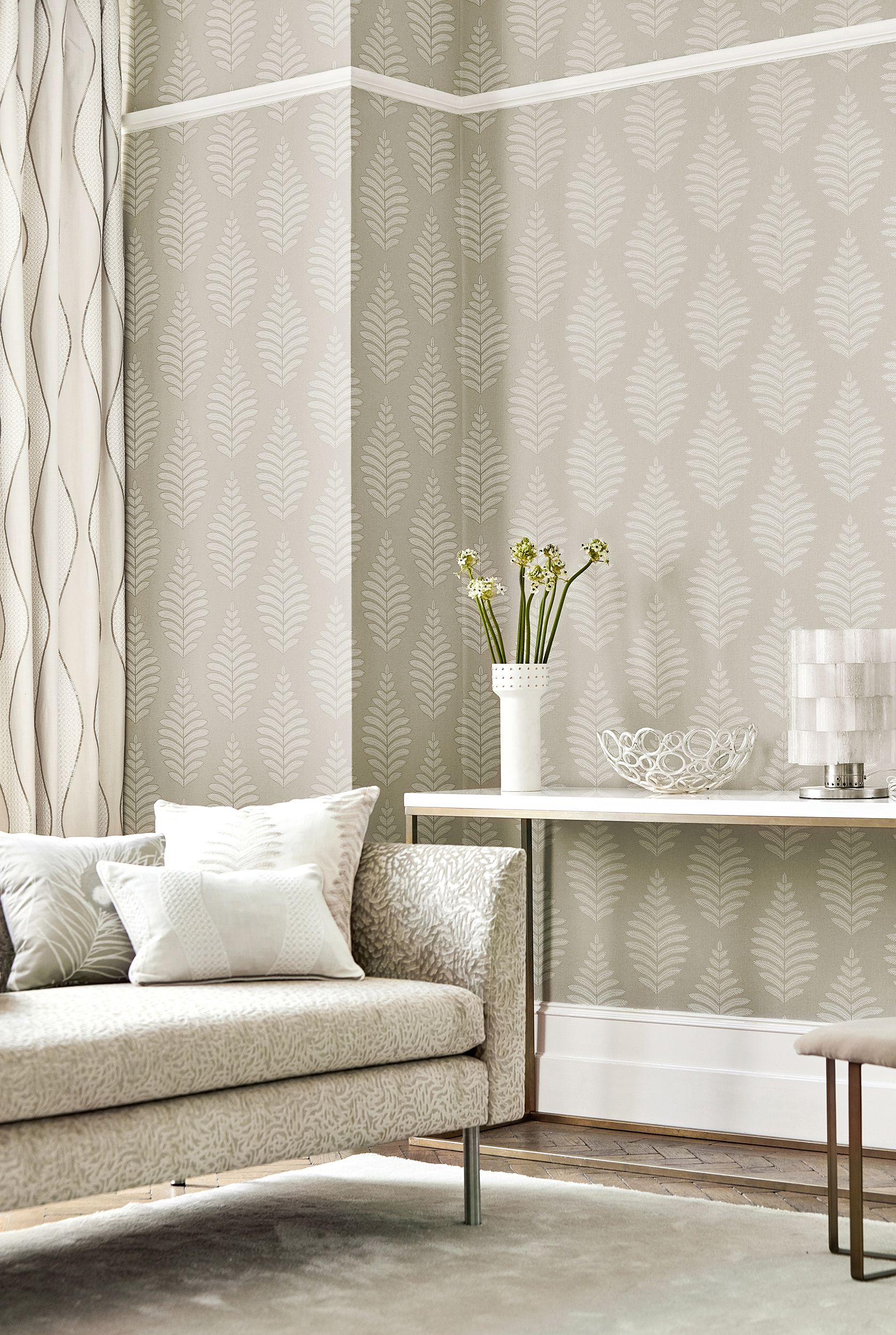 Hallway furniture gumtree  New Neutrals Harlequin launches  muted wallpapers for blissfully