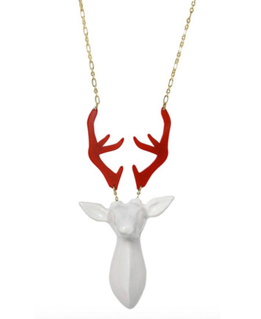 Colar Cervo Cerâmica - Shop Achados