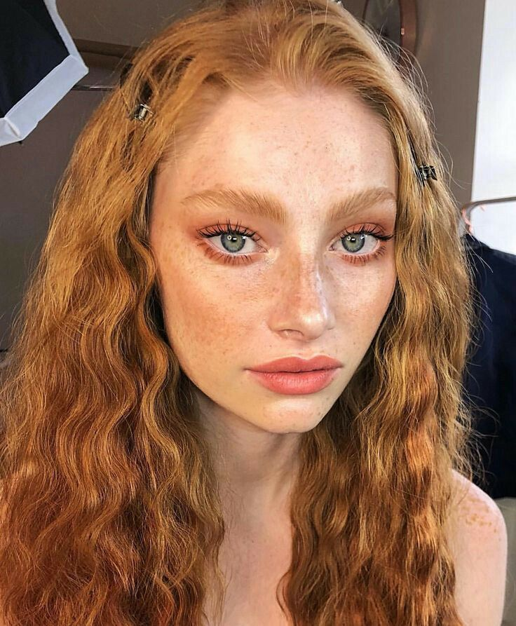 nude Pale redhead