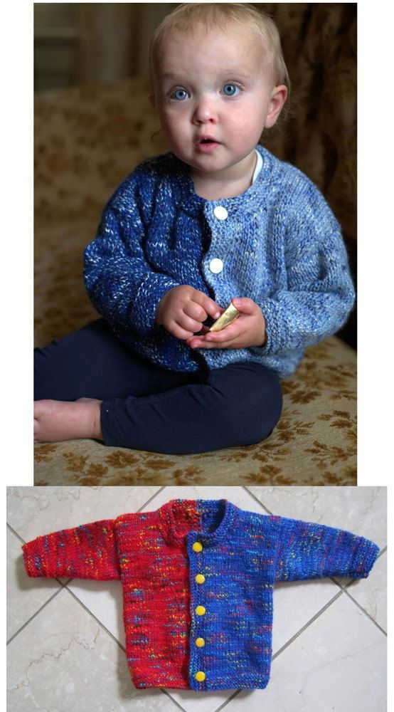 bd9f4fee6e5d Side by Side Baby Cardigan in Plymouth Jelli Beenz - F578 Free ...