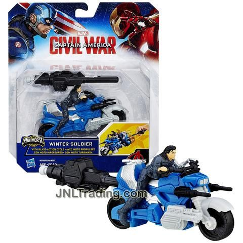 Marvel Captain America Civil War Winter Soldier wtih Blast Action Cycle