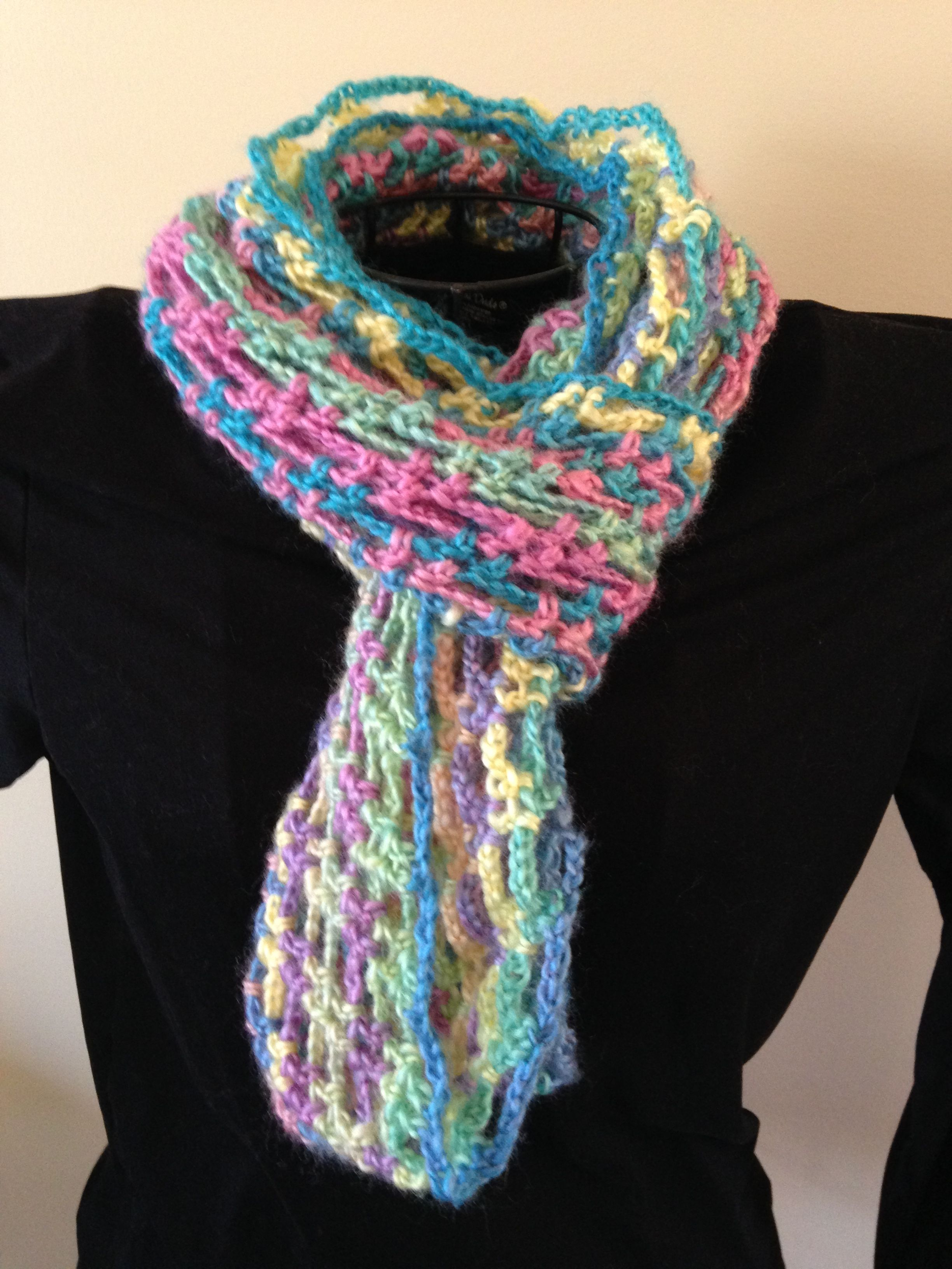Another view of the Artfully Simple Infinity Scarf, made with Red ...