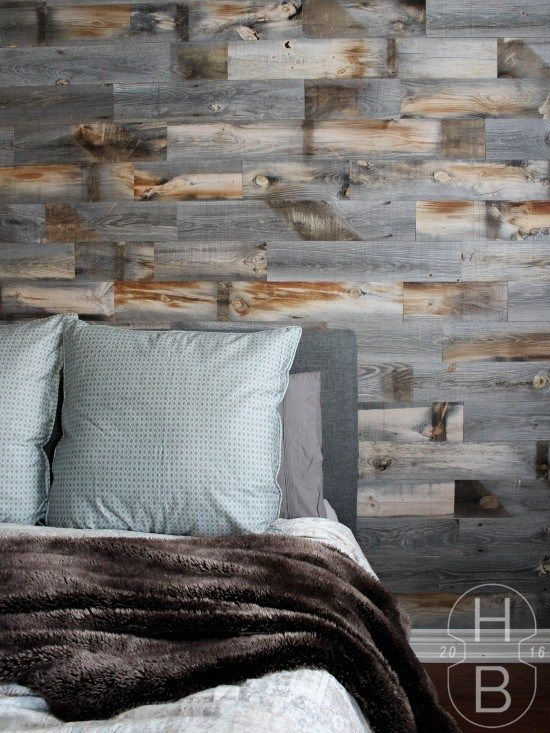 Bathroom Remodel With Stikwood: Master Bedroom DIY Feature Wall With Stikwood Weathered