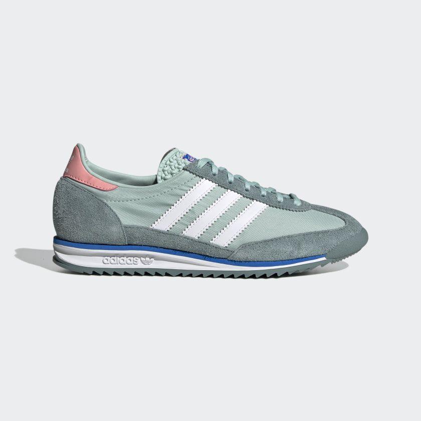 intersección Asco harina  adidas SL 72 Shoes - Green   adidas US   Leder sneaker, Adidas mode, Sneaker