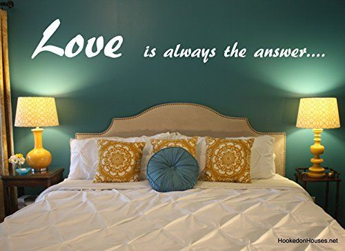 Love is always the answer quote vinyl wall art sticker https