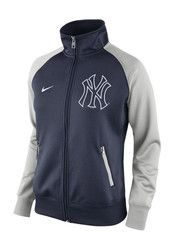 Nike New York Yankees Womens Track Jacket 1.5 Navy Blue Track Jacket
