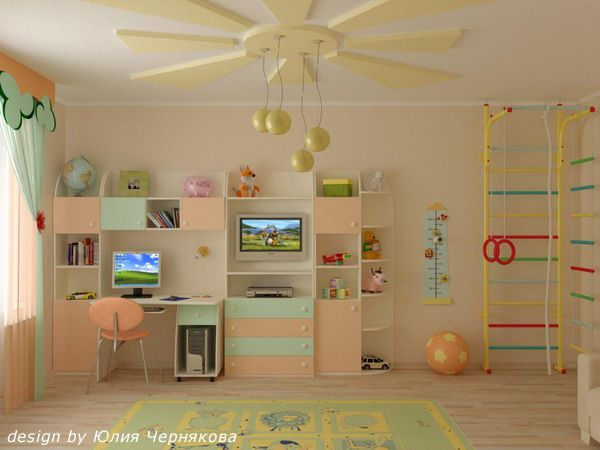 Study Desk Design Ideas In Large Modern Kids Bedrooms
