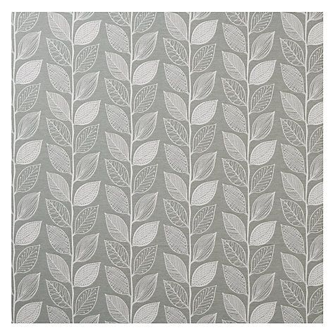 John Lewis Amy Leaf Furnishing Fabric Green Leaf