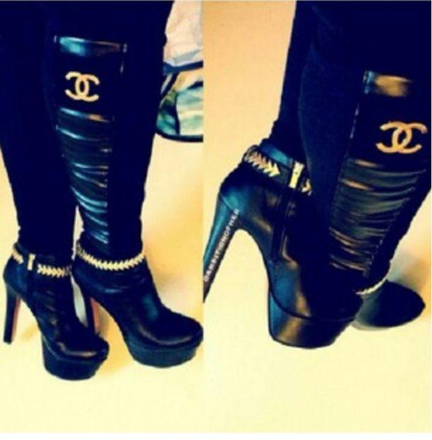Chanel Boots Ayakkabilar Cizmeler Guzellik