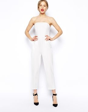 ASOS Jumpsuit with Clean Bandeau   dressy style   Pinterest   Sexy ...
