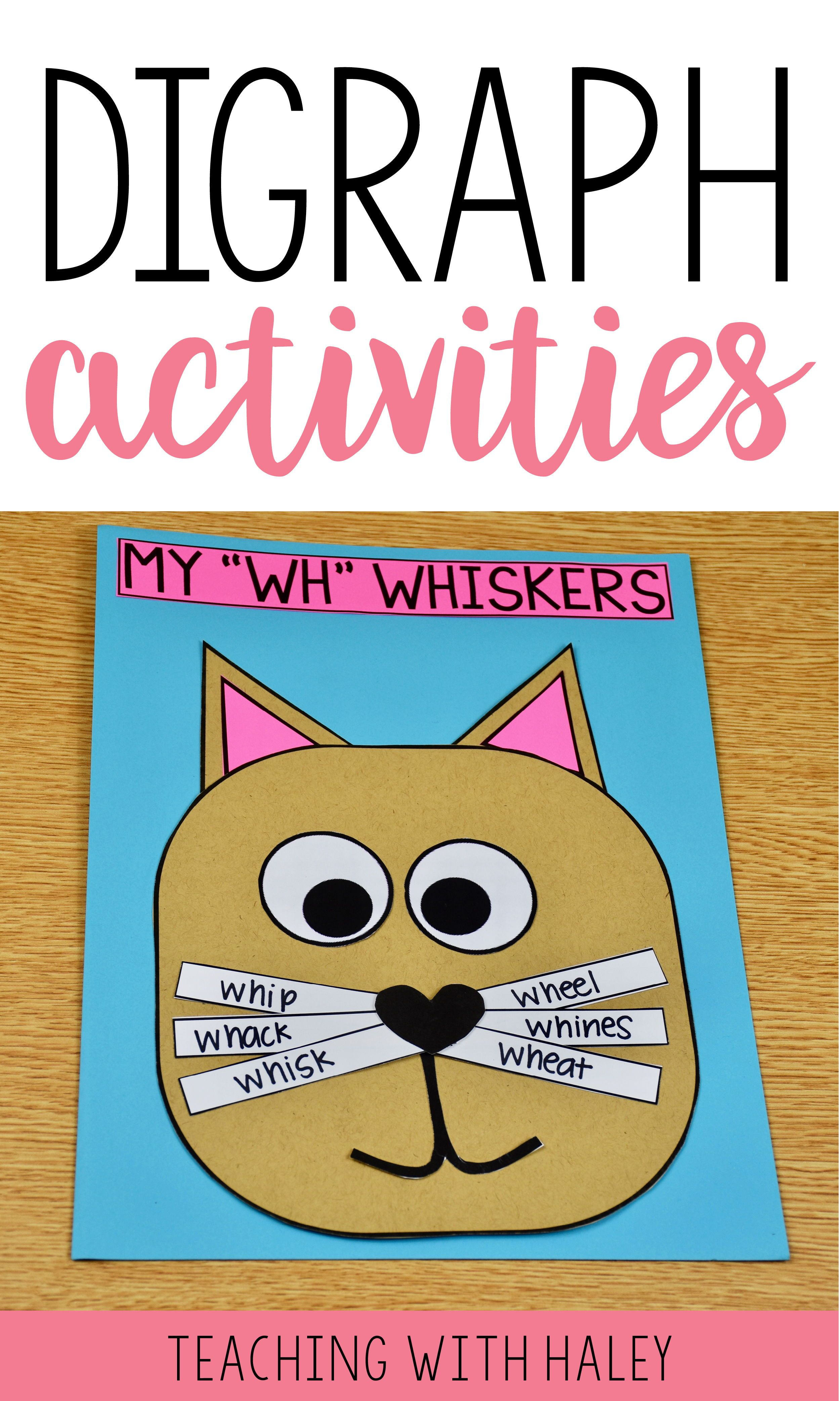 Digraph Activities Centers Printables Crafts Books