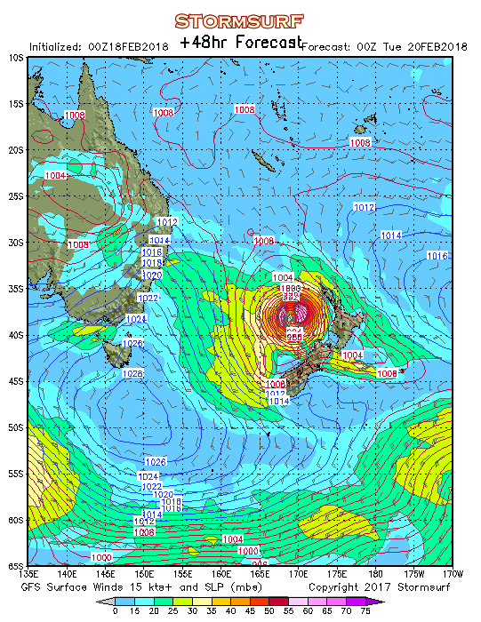 Weather Model East Australia Surface Pressure And Wind Stormsurf