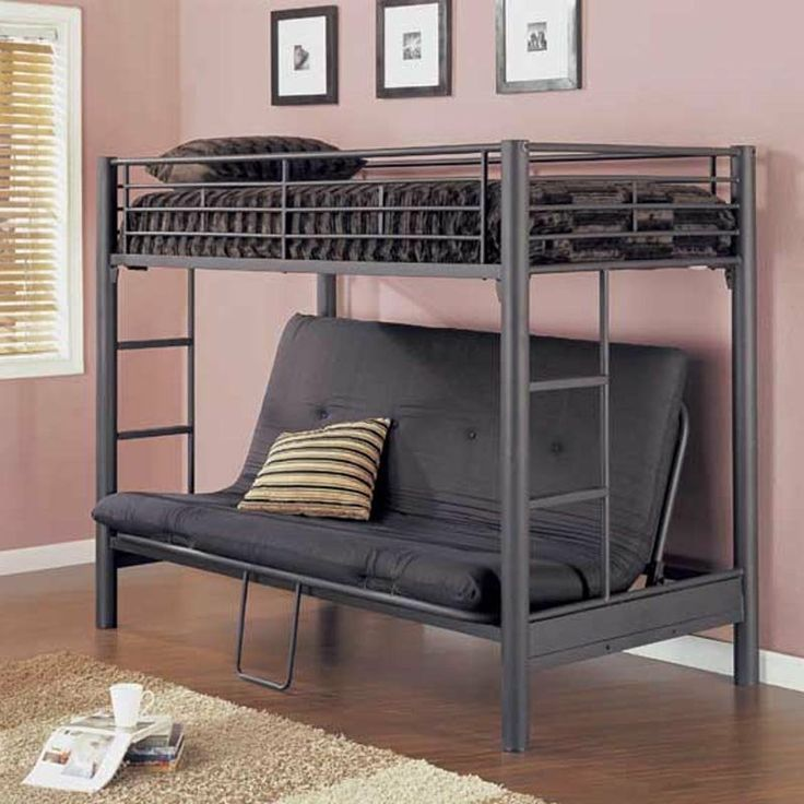 Ikea Futon Bunk Bed For More Space Modern Bunk Beds Futon Bunk Bed Metal Bunk Beds