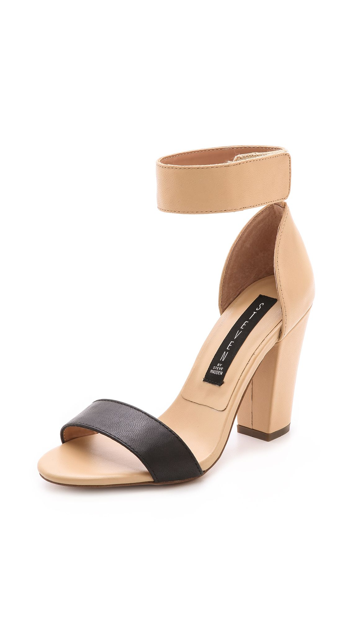089f4953670 Steven By Steve Madden Nuvess Ankle Strap Sandals in Brown (Tan Multi)
