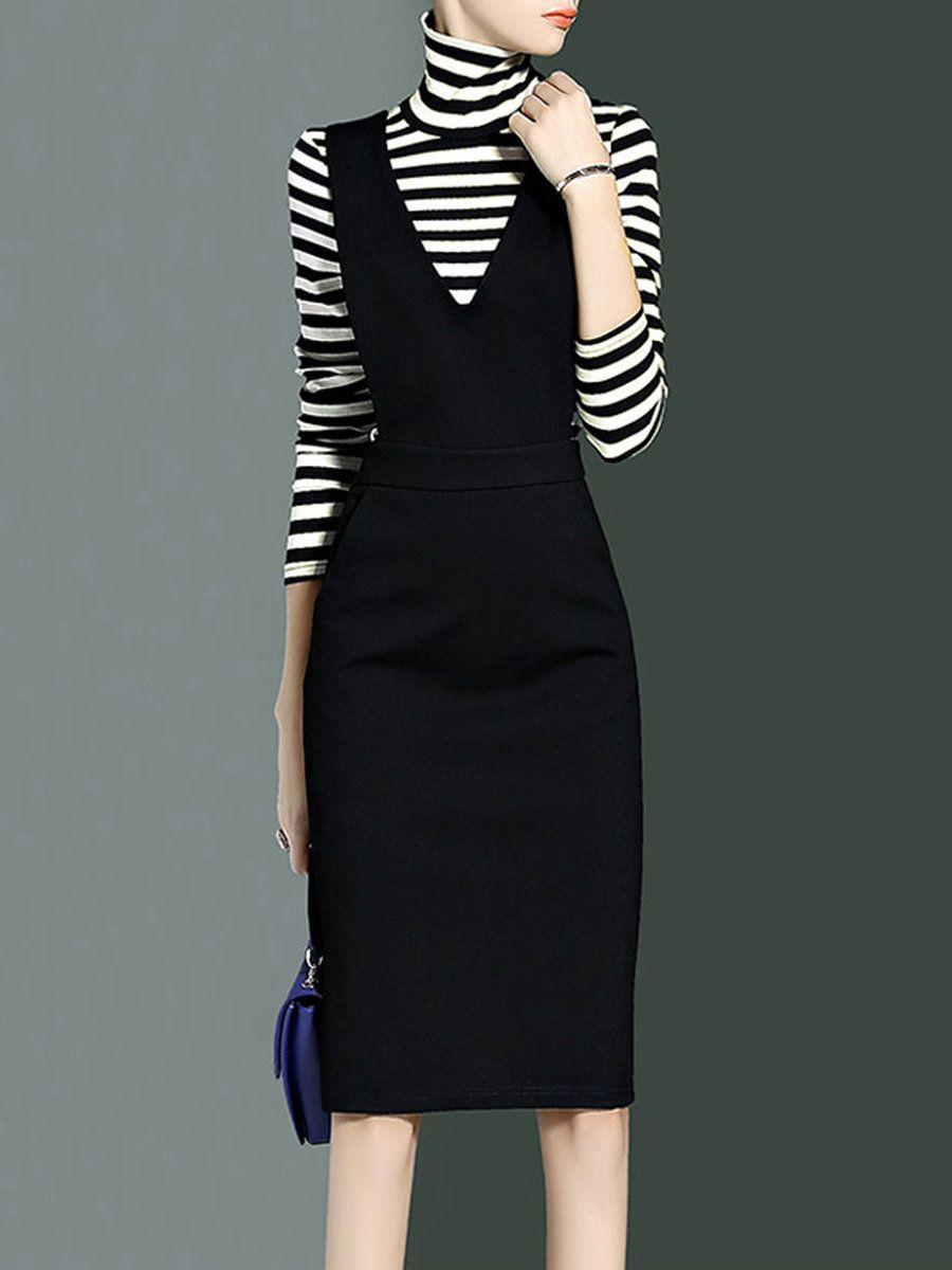 Adorewe stylewe midi dresses cyanine sea elegant two piece