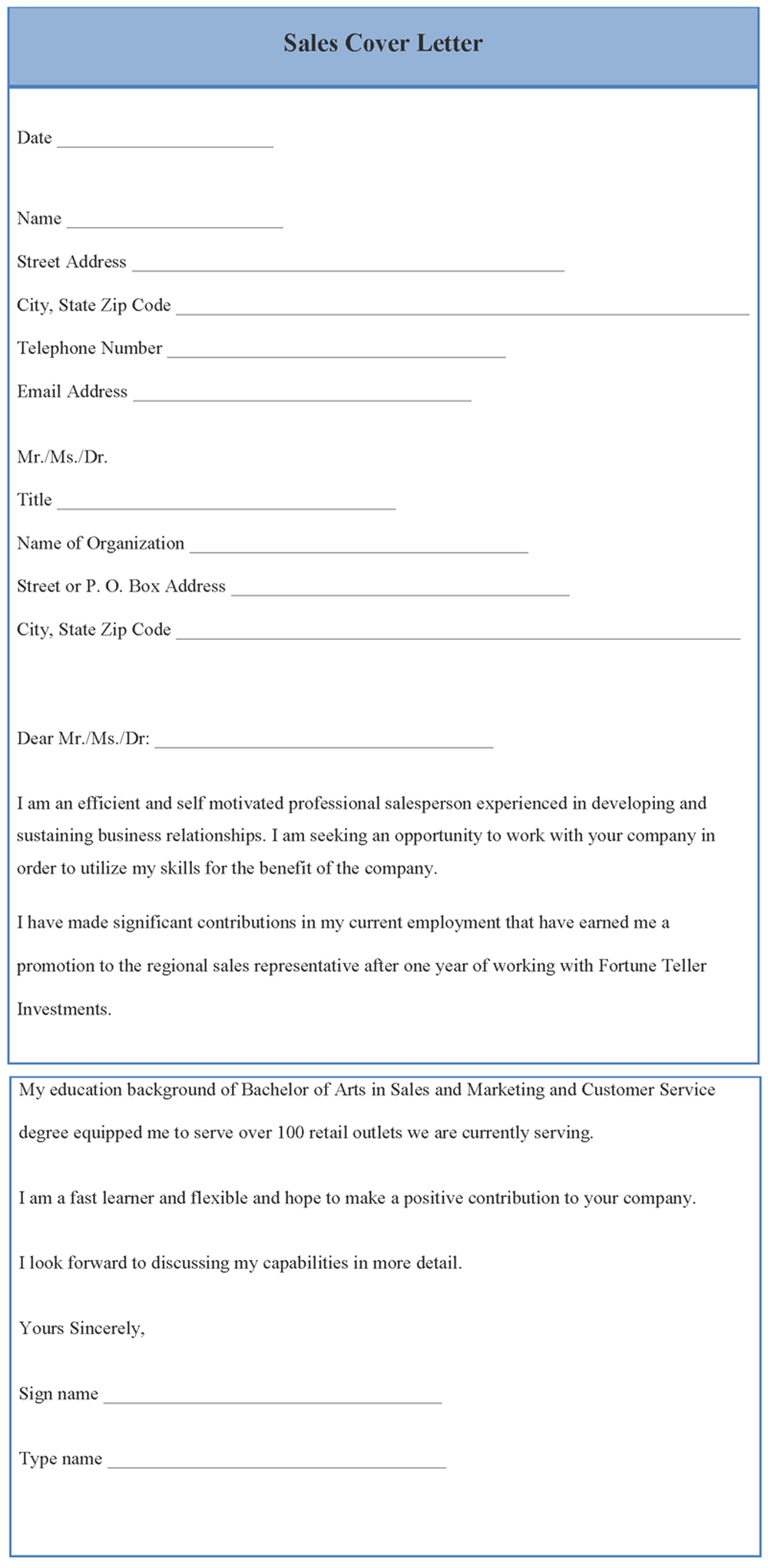 Sales Cover Letter Template Editable Docs Cover letter