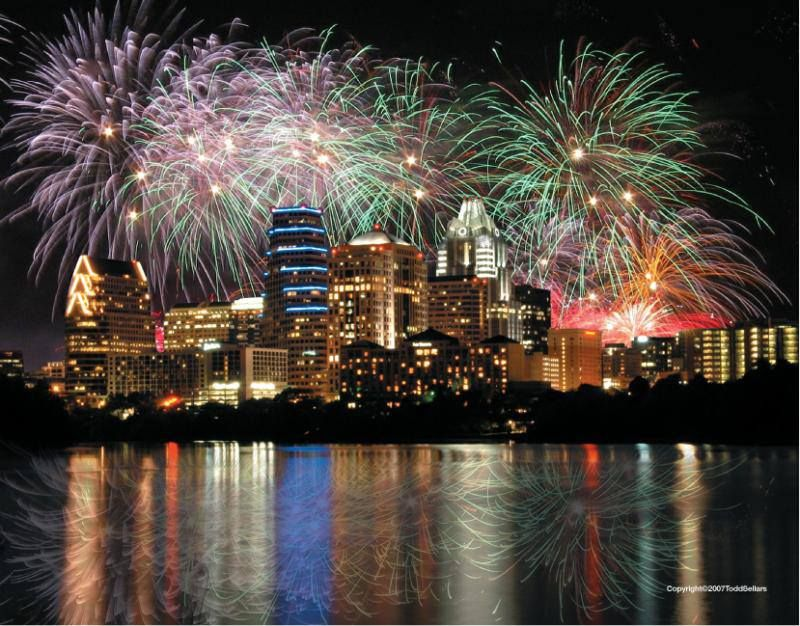 Happy 4th Of July Austin Texas Fireworks 4th Of July Fireworks Downtown Houston