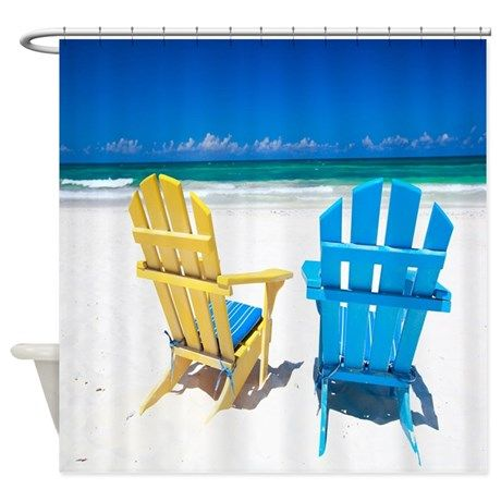 Beach Chairs Shower Curtain On CafePress