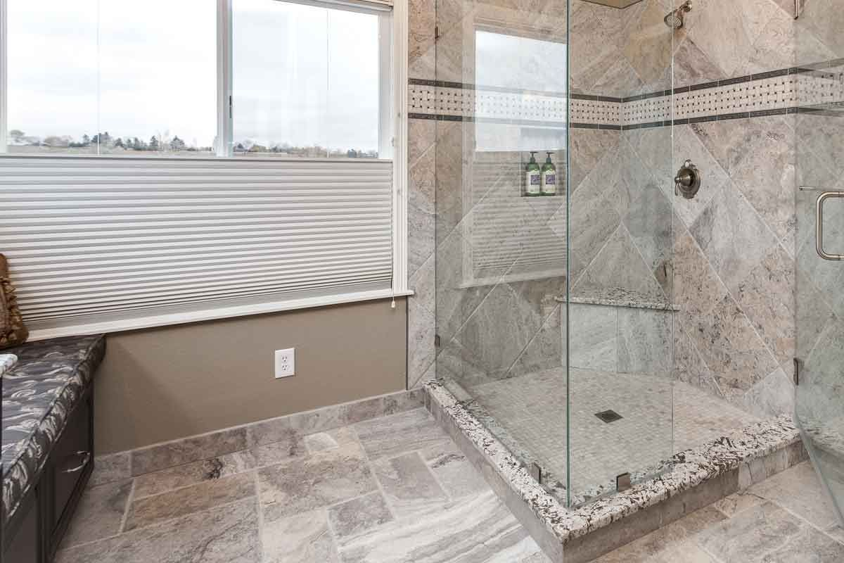 huge shower beautiful master bathroom remodel cherry hills village co - Bathroom Remodel Denver