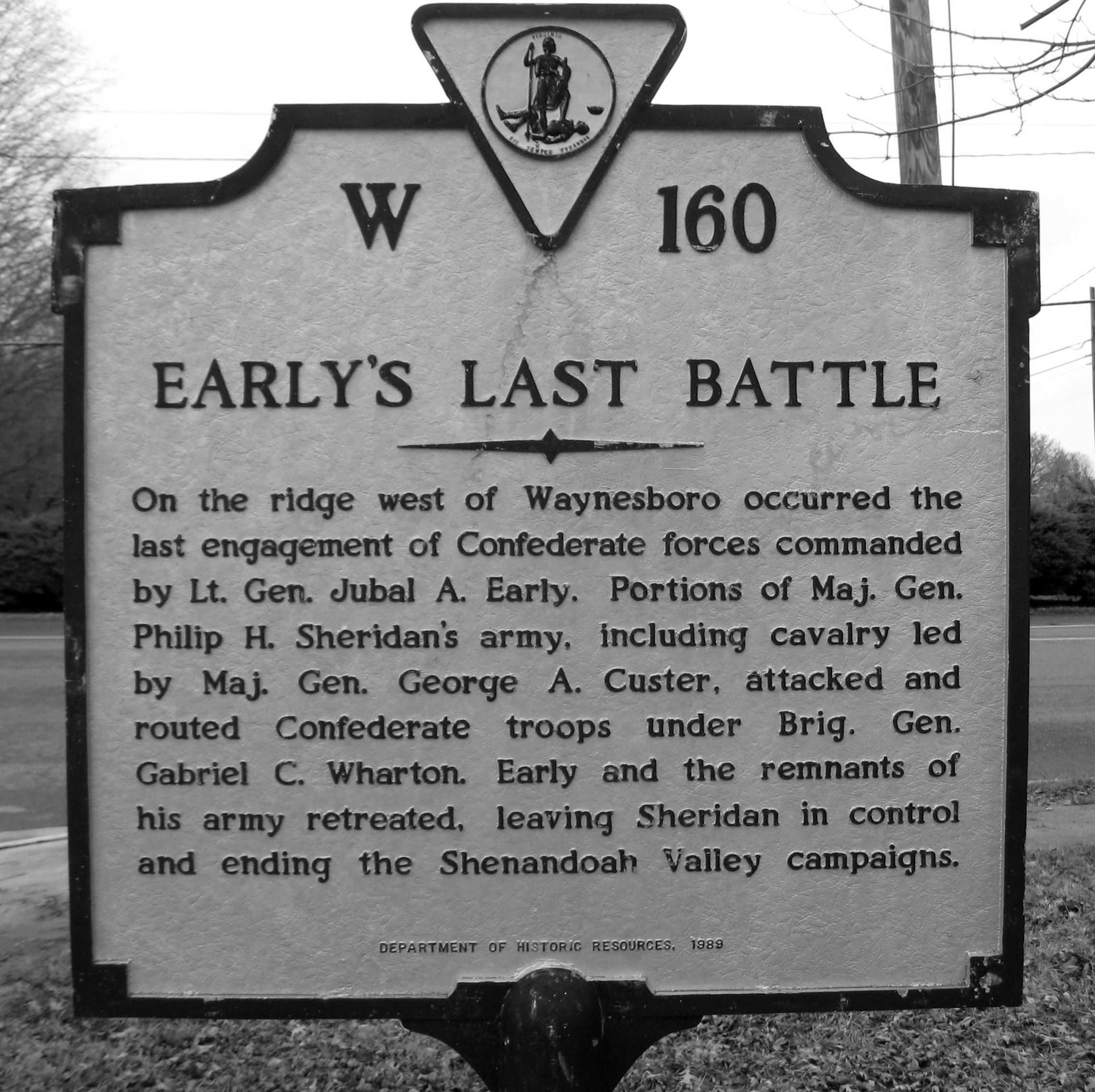 Of Historical Markers In Waynesboro Virginia History