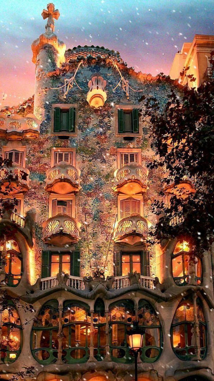 スペイン バルセロナ 画像あり クリスマス 街並み スペイン バルセロナ ファンタジーハウス