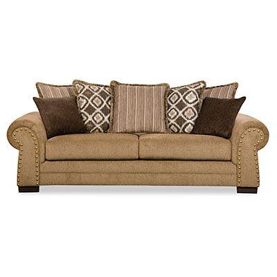 Best Simmons™ Lorenzo Teak Scatter Back Sofa At Big Lots 400 x 300