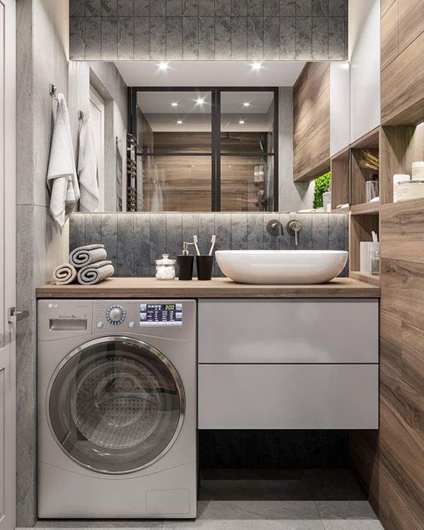 32 modern laundry room ideas in bathroom for small spaces on extraordinary small laundry room design and decorating ideas modest laundry space id=36815