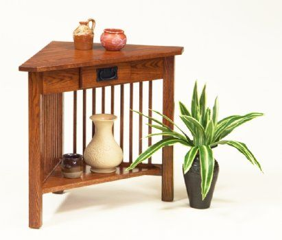 Corner Table With Drawer Country Lane Furniture Corner Table Mission Style Furniture Table