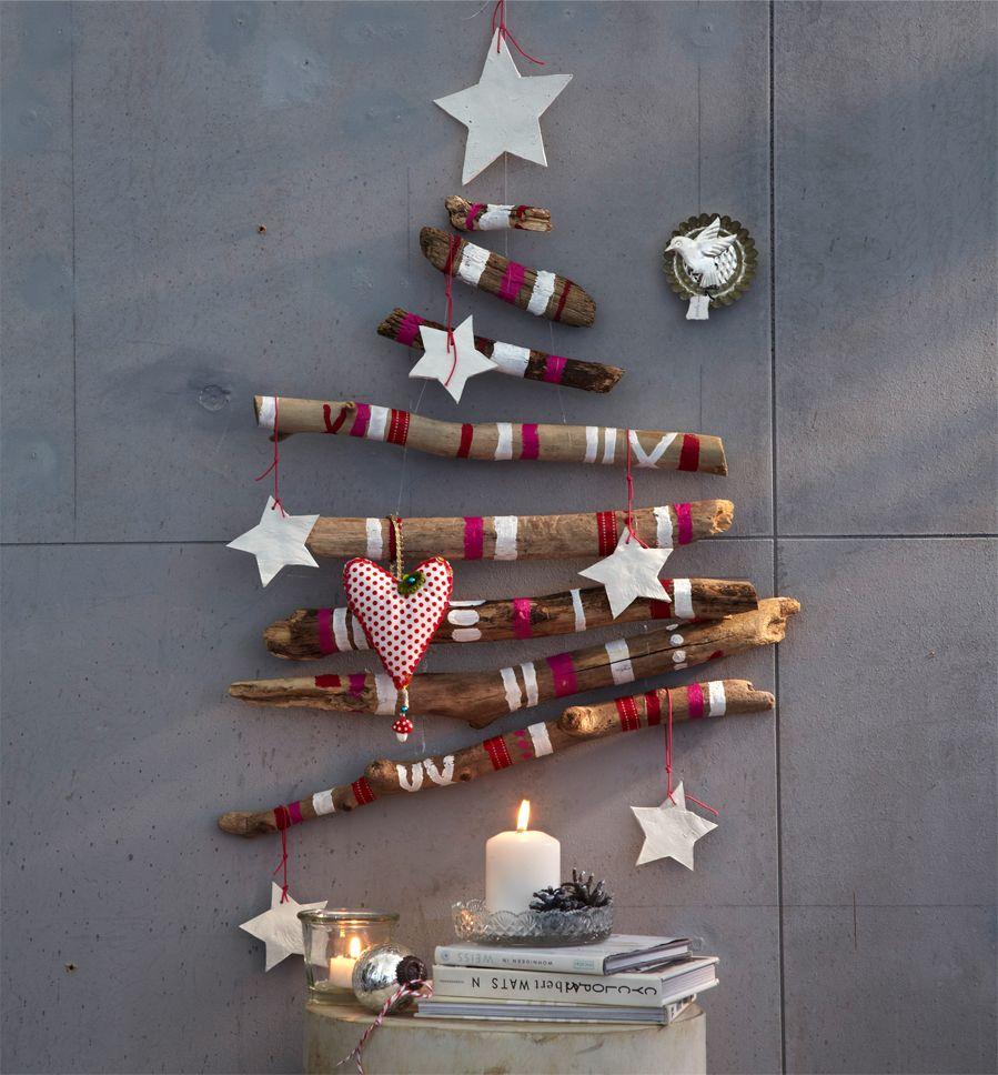 Kerstboom van houten takken kerst pinterest red christmas