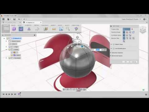 Fusion 360 Creating The Base Shape of the F1 Helmet