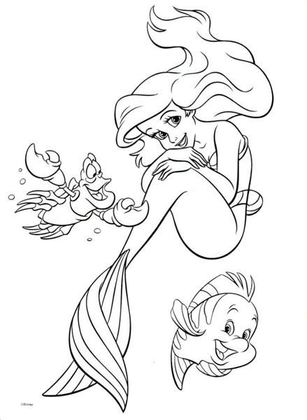 Princess Ariel Little Mermaid Coloring Pages | HelloColoring.com .