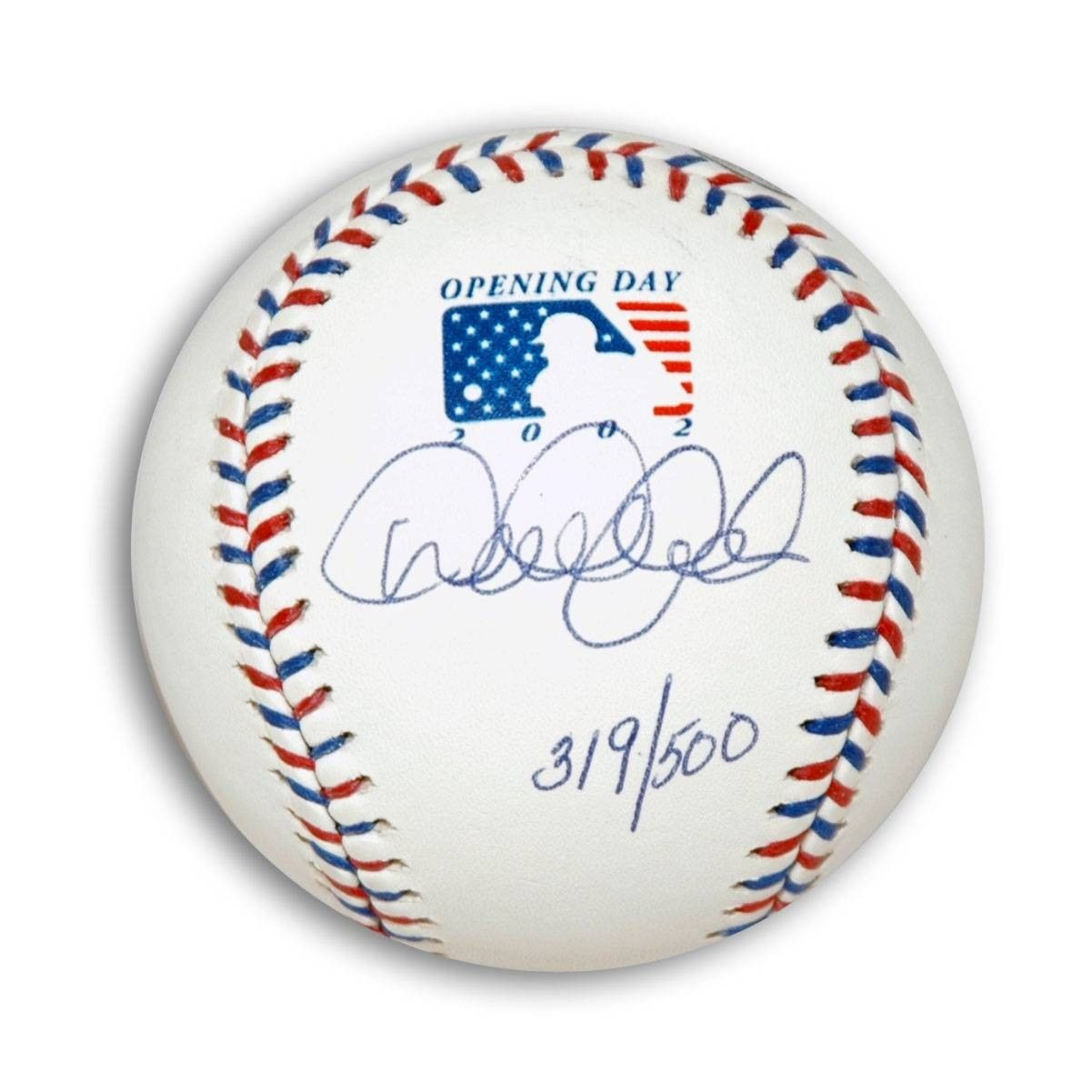 AAA Sports Memorabilia LLC - Derek Jeter Autographed MLB 2002 Opening Day Baseball. This ball is Serial Numbered 319/500. This item comes with Steiner and MLB COAs., $742.95 (http://www.aaasportsmemorabilia.com/mlb/new-york-yankees/derek-jeter-autographed-mlb-2002-opening-day-baseball-this-ball-is-serial-numbered-319-500-this-item-comes-with-steiner-and-mlb-coas/)